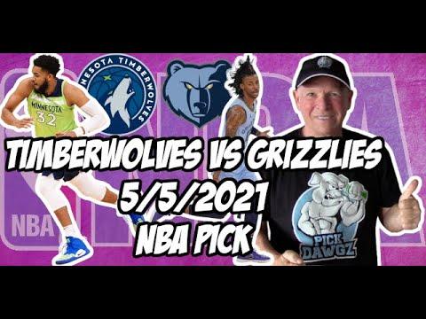 Minnesota Timberwolves vs Memphis Grizzlies 5/5/21 Free NBA Pick and Prediction NBA Betting Tips