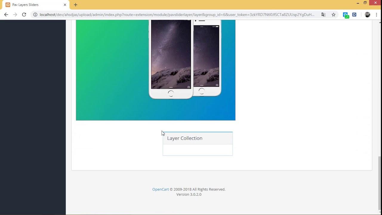 Pavo theme: Create new Layer Slider module Opencart 3