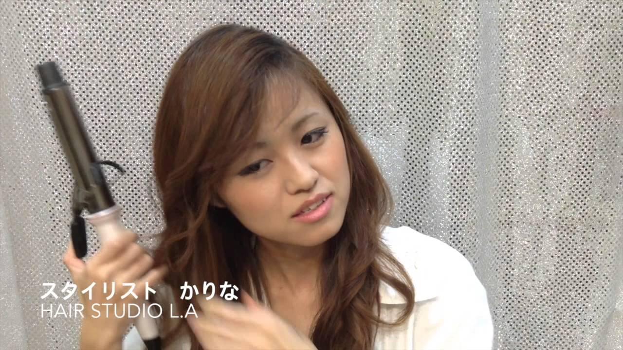 中村アンのようなかき上げ前髪と巻き髪の作り方(コテ アイロン) , YouTube