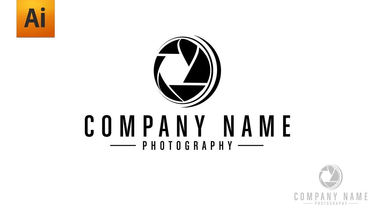 Adobe Illustrator Tutorial - Photography Logo Graphic Design - YouTube