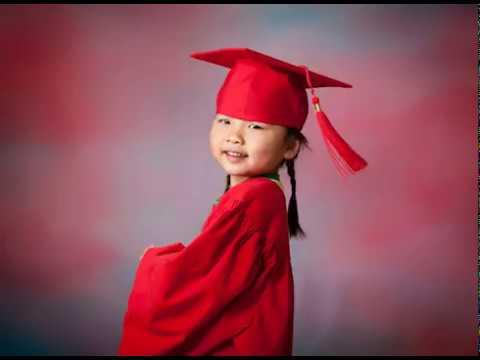 preschool kindergarten cap and gown portrait session youtube