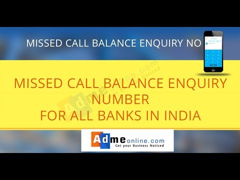 All bank Balance Enquiry Number   Bank balance check number