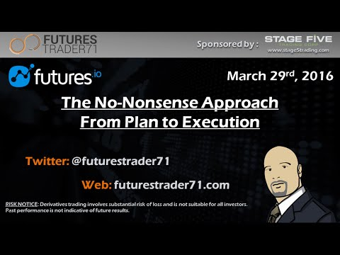 03-29-2016 No nonsense Approach from Plan to Execution sponsored by Futures.io