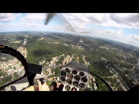 Pittsburgh Helicopter Flight Over Downtown.