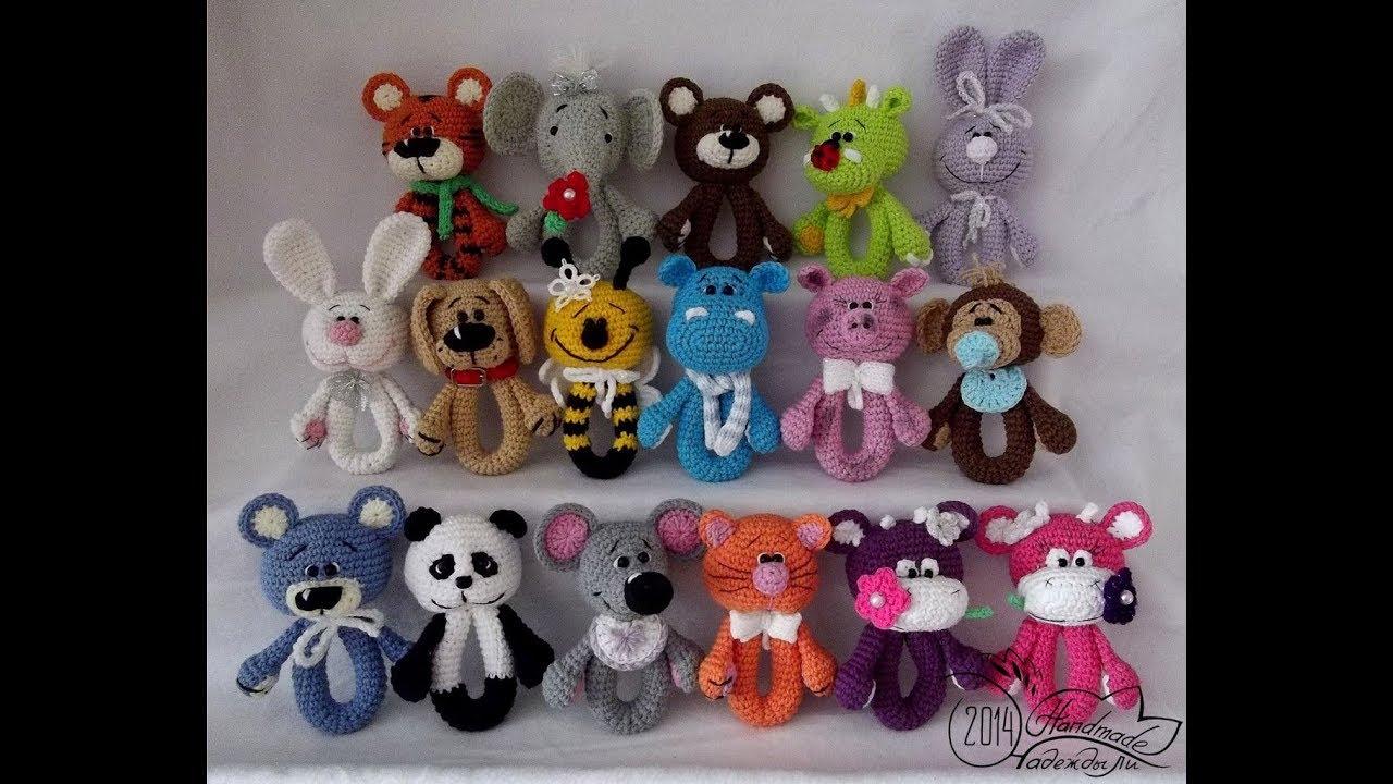 вязаные игрушки погремушки сrochet Toy Rattle For Newborns Youtube
