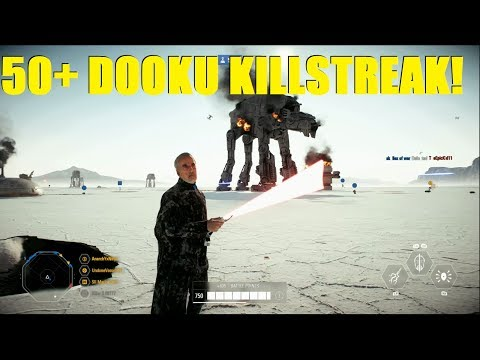 Star Wars Battlefront 2 - HUGE Count Dooku 50+ Killstreak! Darth Tyranus is AMAZING! thumbnail