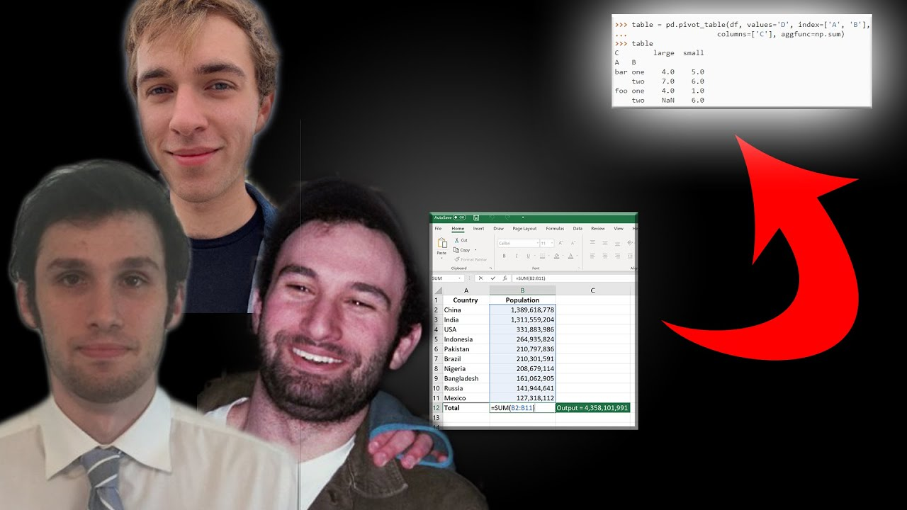 Coding in Python with Microsoft Excel! (Jake & Aaron) - KNN Ep. 40