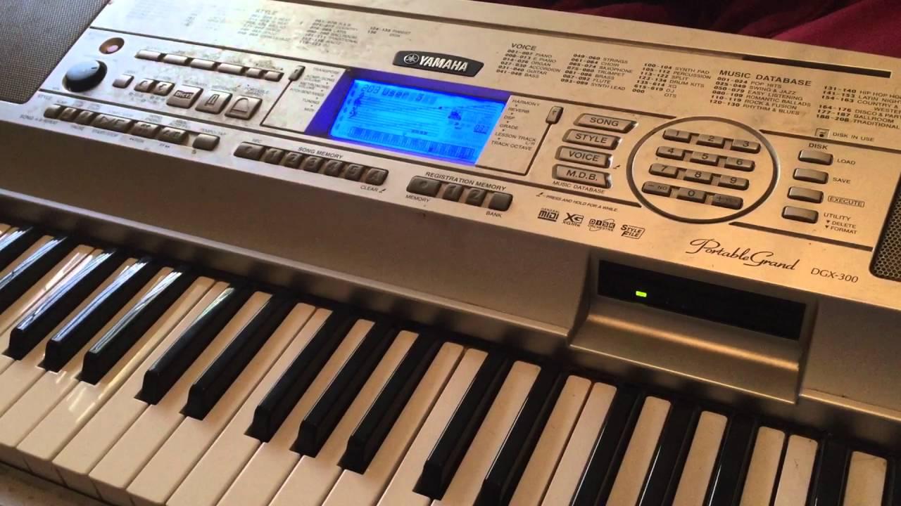 yamaha keyboard beats dgx 300 portable grand youtube. Black Bedroom Furniture Sets. Home Design Ideas