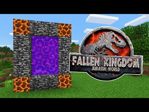 How To Make a PORTAL to the JURASSIC WORLD FALLEN KINGDOM Dimension in Minecraft PE