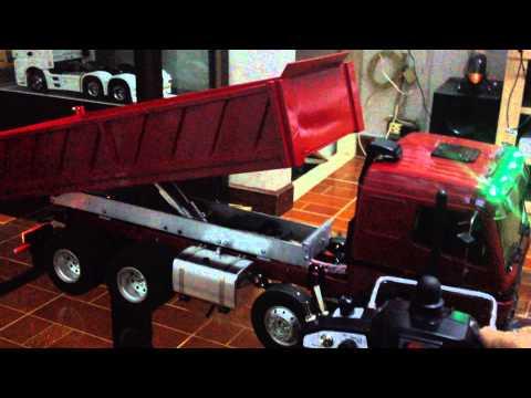 รถดั้ม 12 ล้อ บังคับ Benz 8x4 HDL Full Option By Pae Rcubon