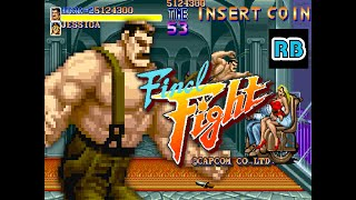 1989 [TAS 60fps] Final Fight (World) 6355500pts Haggar ALL