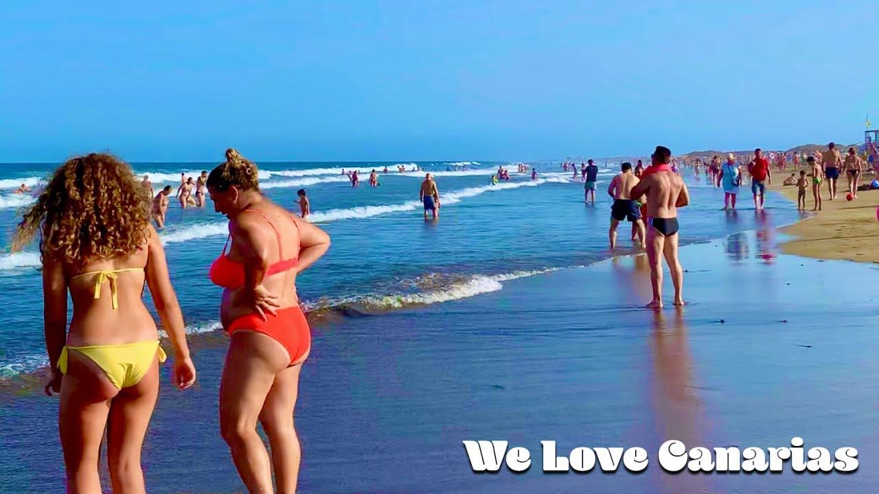 Gran Canaria Playa del Ingles Sunday Beach Life on a Sunny Sunday 🥰
