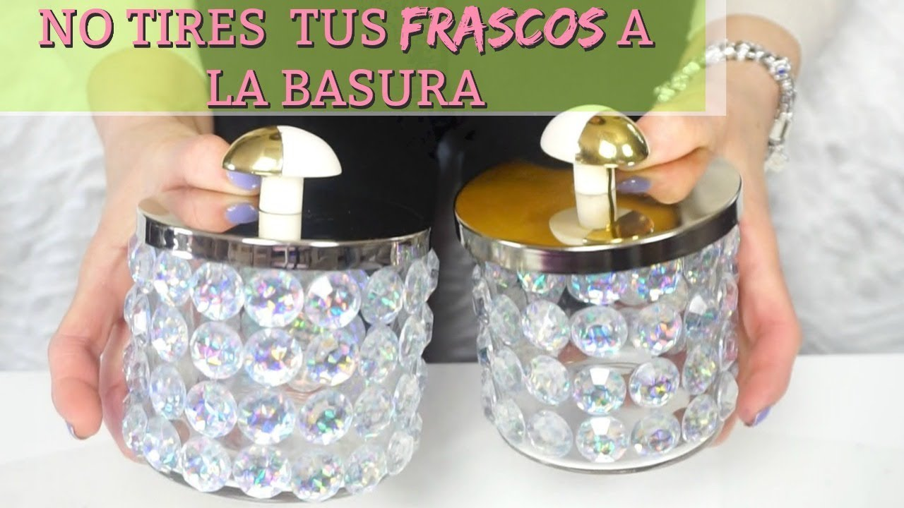 Reciclando envases de velas frascos decorados para la for Reciclar frascos de vidrio de cafe