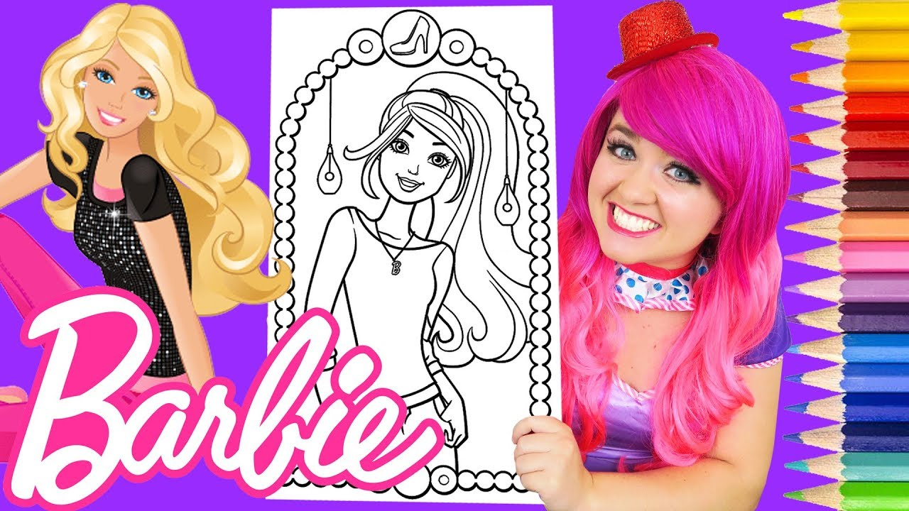 Coloring Barbie Crayola Giant Poster Page Prismacolor