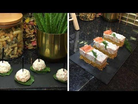 recettes-de-cheesecake-salé-au-saumon-fumé-et-boulettes-apéritives-au-fromage-et-surimi-💕💕