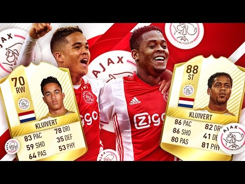 SON OF A LEGEND! PATRICK KLUIVERT VS JUSTIN KLUIVERT! NEW PLAYERS IN FIFA! FIFA 17 ULTIMATE TEAM