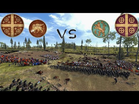 --BATTLE OF TWO EMPERORS-- 1212 AD 2v2 Semi-Historical Battle During the Fourth Crusade