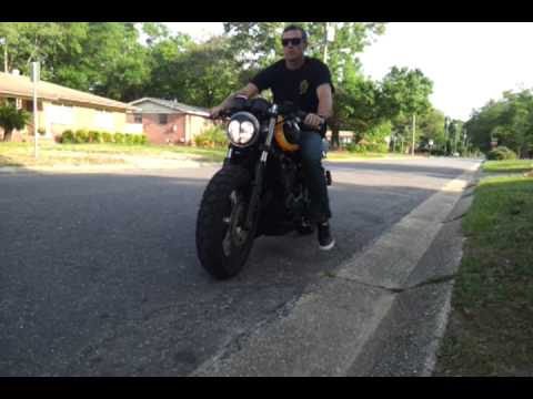 triumph thunderbird cafe racer hd pipes - youtube