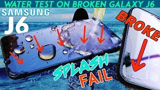 Dropped Samsung Galaxy J6 2018 - Water Test!