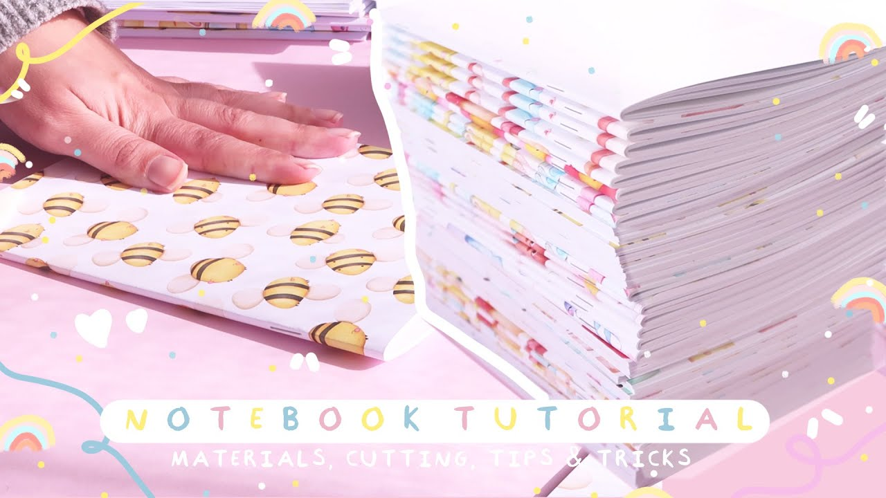 HOW TO MAKE NOTEBOOKS! / Materials, Mounting and Cutting / Complete Step-by-Step Tutorial