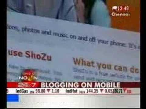 Varun Krishnan on Ndtv - mobile blogging