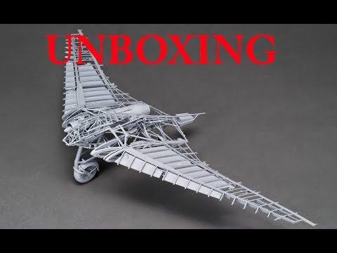 Zoukei-Mura Horten Ho-229 1:32 Flying Wing Unboxing & Review
