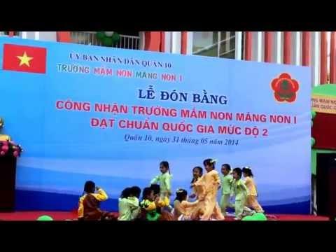Múa Bé quét nhà các bé Khối  Chồi (2013-2014) trường MN Măng Non1 Quận 10
