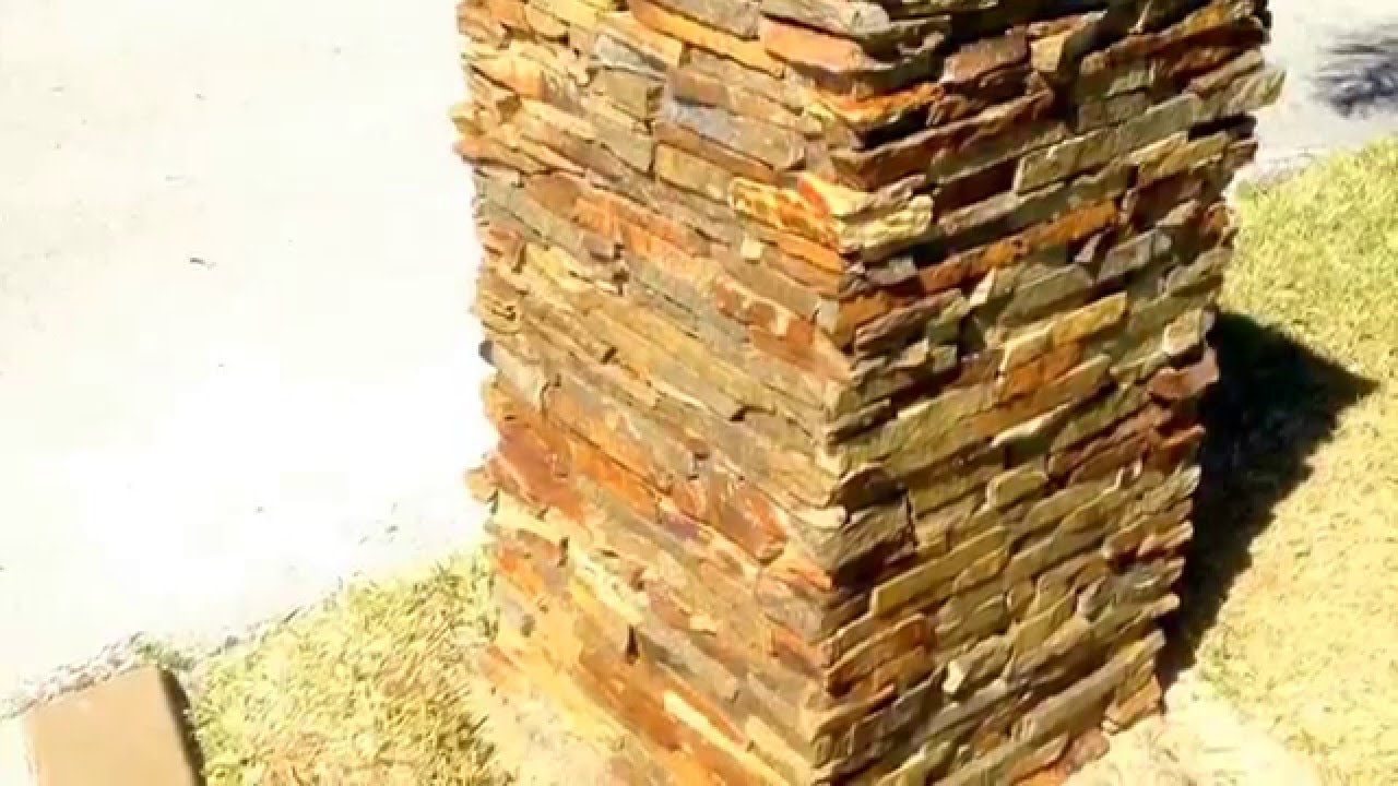 Stone Masonry, Stone Mailbox, Ledgestone Veneer - YouTube