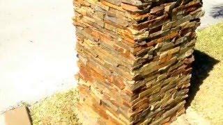 Stone Masonry, Stone Mailbox, Ledgestone Veneer