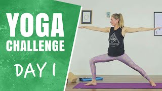 Let's Get started   Day 1   30 Days of Yoga Challenge