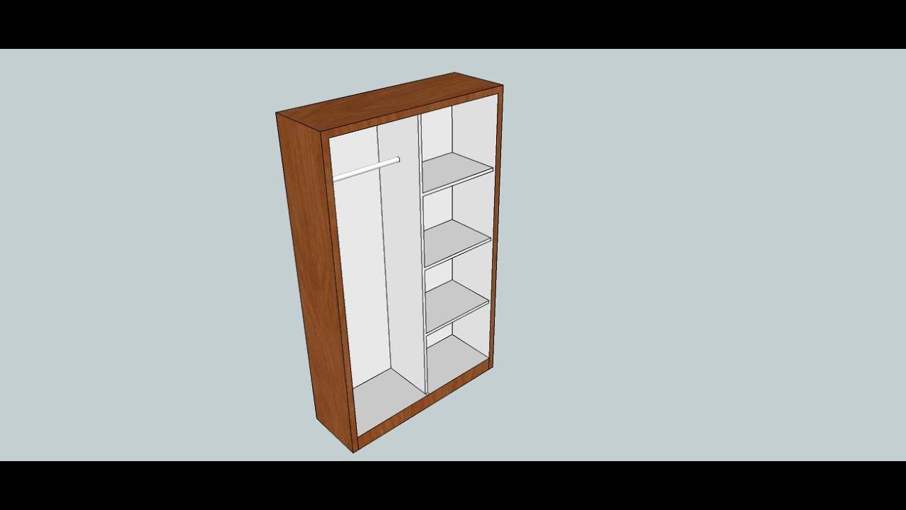 Sketchup Membuat gambar lemari sederhana  YouTube