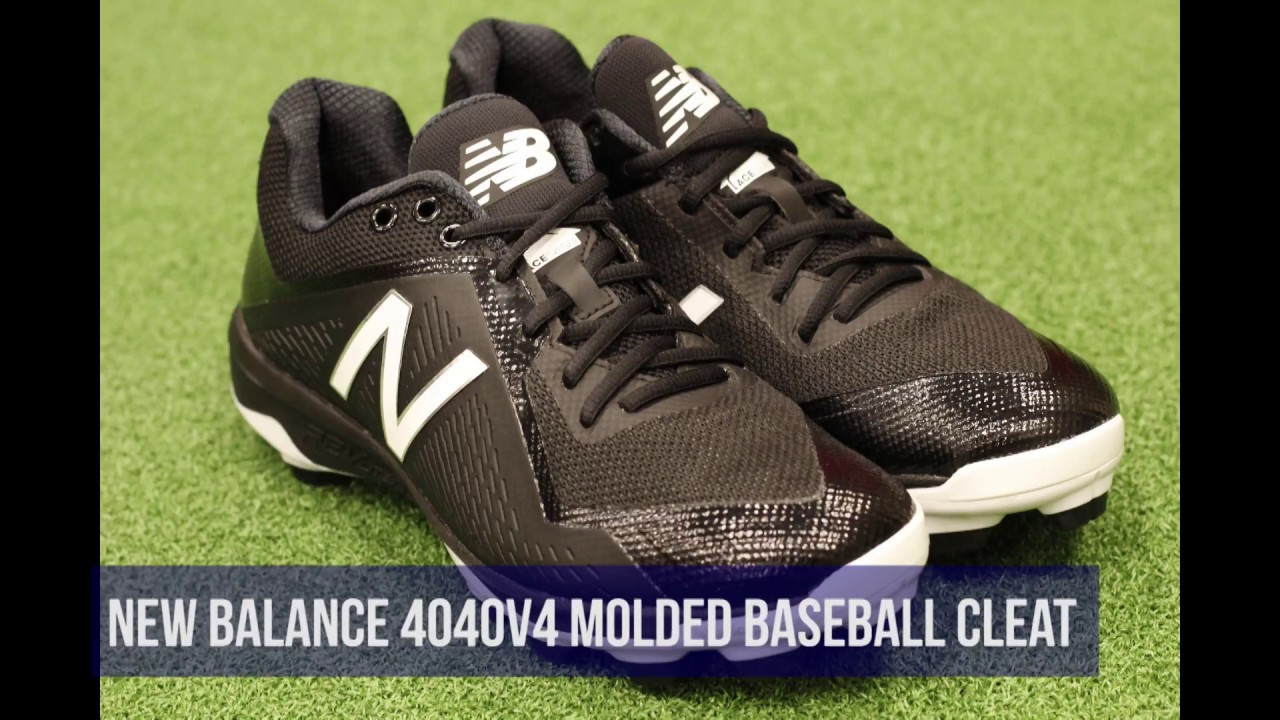 8c83a498d8c New Balance 4040v4 Low Men s Molded Baseball Cleat Review - YouTube