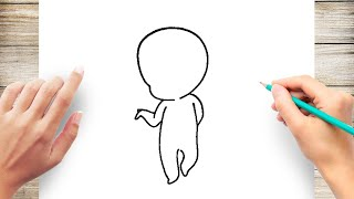 How to Draw Chibi Bodies Step by Step for Kids