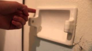 DIY - How to Remove a Wall Installed Toilet Paper Dispenser