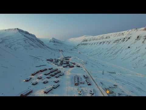Longyearbyen From Above In 4k February 2017
