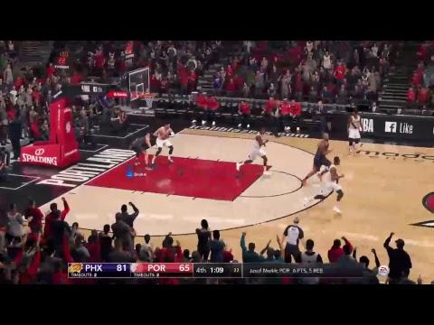 NBA Live 18 Gameplay Suns @ Blazers (Pt 2)