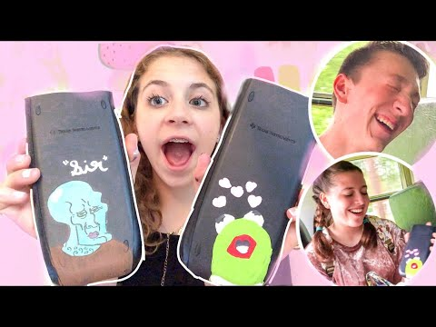 Stealing People S Calculators And Painting Them Crazy Reactions Youtube