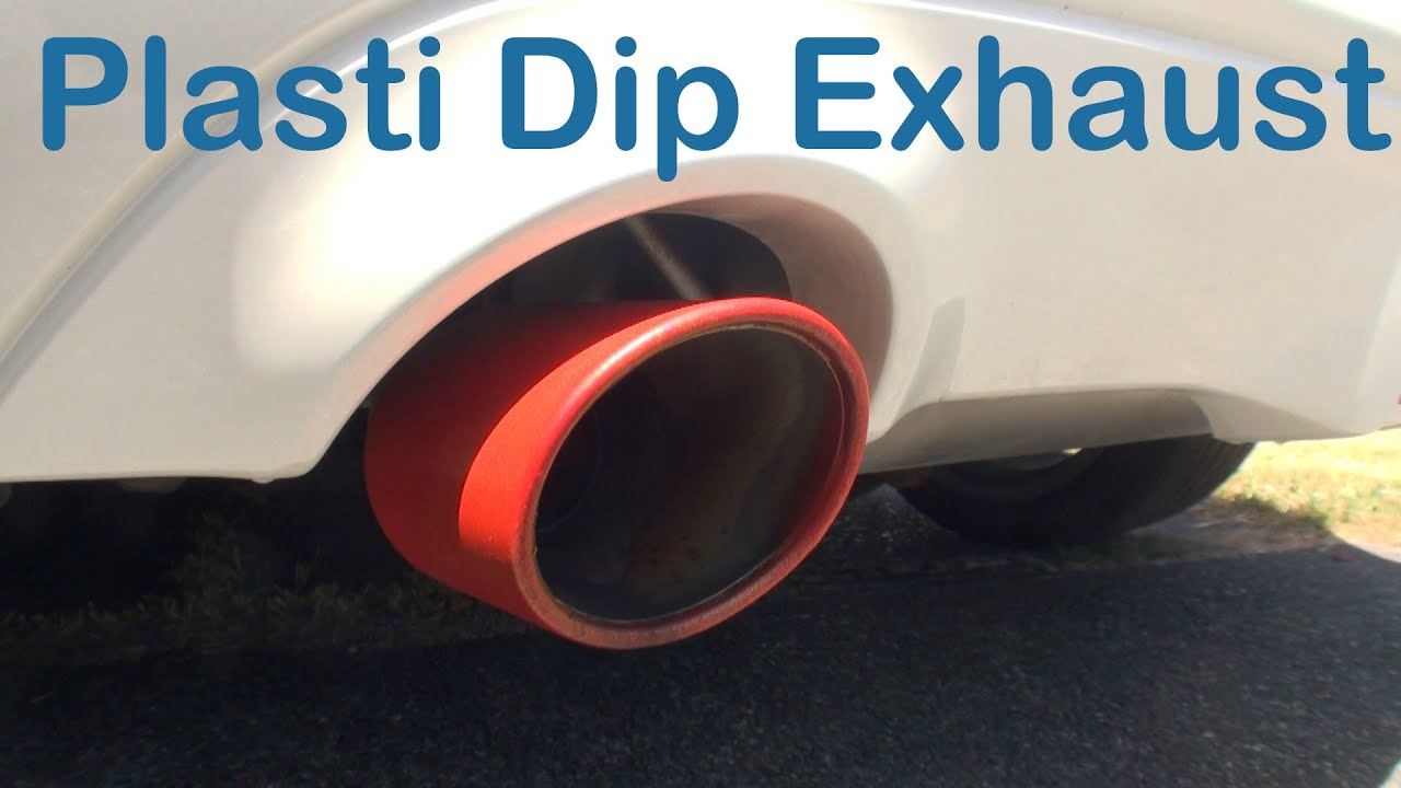 Plasti Dip On Exhaust Tips Does It Hold Youtube