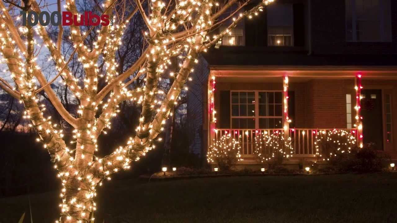 100 clear mini christmas lights white wire 505 ft stringer