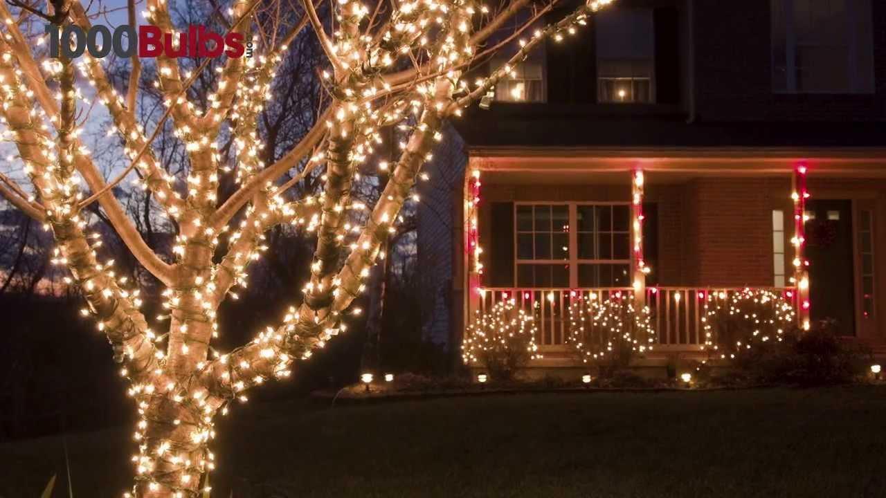 Clear Mini Christmas Lights White Wire   Ft Stringer
