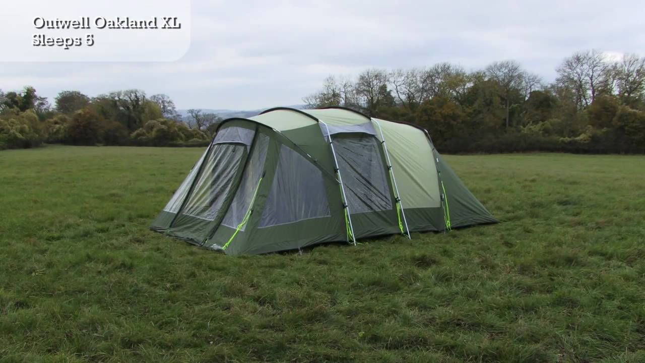 & Outwell Oakland XL - Tent Pitching Video - YouTube