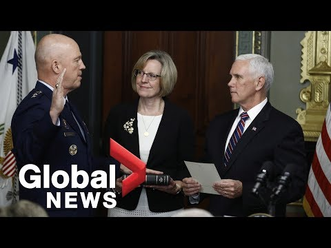 Gen. Raymond Sworn In As First Leader Of U.S. Space Force