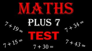 maths online - math for kids Plus 7 TEST