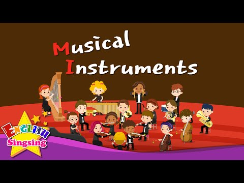 Kids vocabulary - Musical Instruments - Orchestra instruments - English educational video for kids