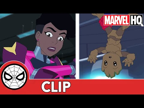 "SNEAK PEEK: Spidey & Ironheart Vs. AIM in Marvel's Spider-Man: Maximum Venom ""Amazing Friends Pt. 1"""