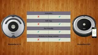 Roomba 615 vs Roomba 690   -  Robot Vacuum Comparison