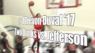 Trevon Duval '17, Two Dunks vs. Jefferson, UA Holiday Classic, 12/30/15