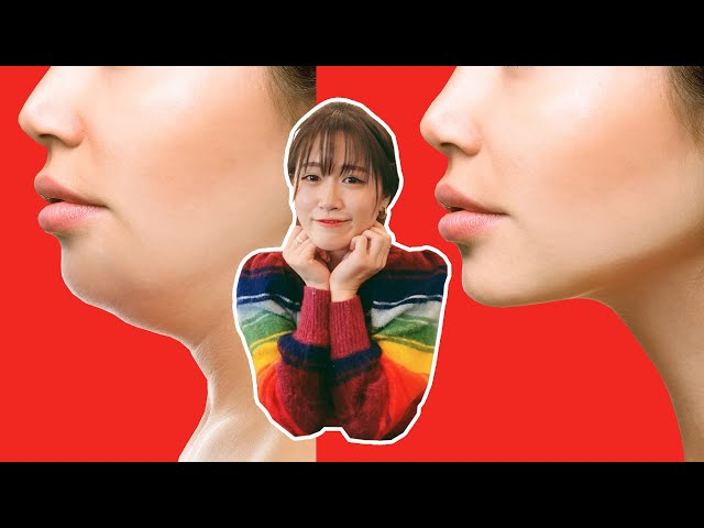 [二重あご] 首から顎の脂肪を落とす顔やせエクササイズ @MaoMao TV