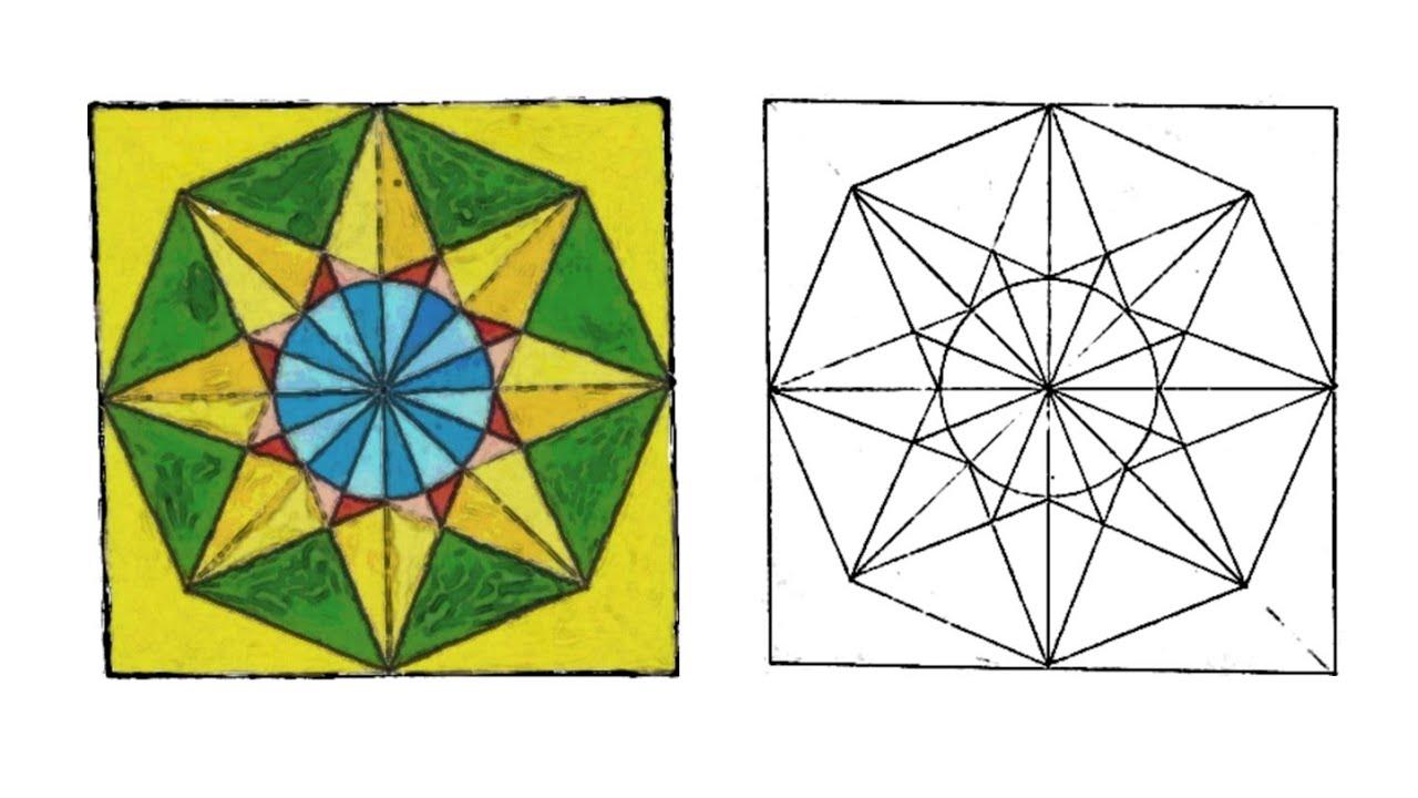 رسم وحدة زخرفية لا نهائية زخرفة النجمة الثمانية زخارف اسلامية هندسية سهلة Islamic Geometric Youtube