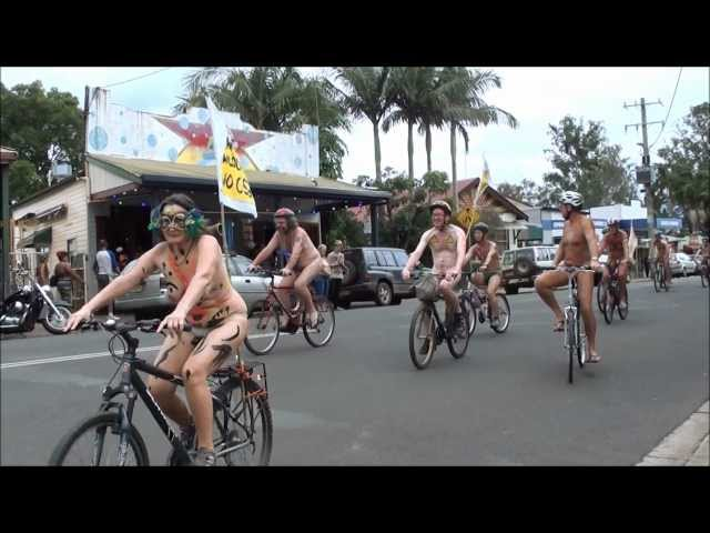 World Naked Bike Ride 2013 - NIMBIN NSW AUSTRALIA